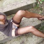 Belle cochonne alsacienne aimant tailler des pipes en plein air